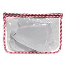 Набор для бани в сумочке (шапка,коврик,рукавица),белый