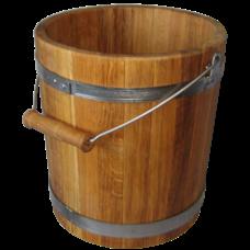 Ведро деревянное для бани,дуб,объем 10 литров