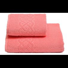 Полотенце махровое для бани,100х150, цвет коралловый