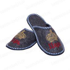 """Тапочки мужские из войлока с вышивкой """"Царь"""", непромокаемая подошва, размер: 43-44"""