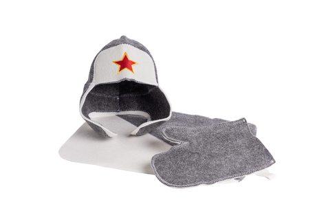 """Мужской подарочный набор для бани и сауны """"Звезда"""" - 3 предмета"""