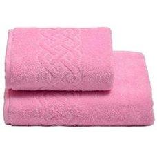 Полотенце махровое для бани,100х150, цвет розовый