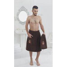 Набор для бани и сауны мужской Karna Pamir, коричневый