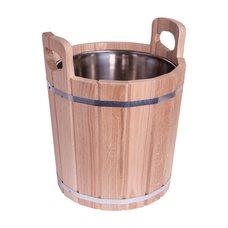 Запарник для бани 20 л из дуба, нержавеющая вставка