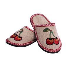 """Тапочки женские из шерсти """"Вишенка"""",размер 37-39"""
