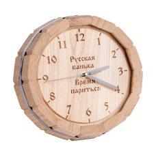 """Часы настенные """"Время парится"""" Ч-1, дуб"""