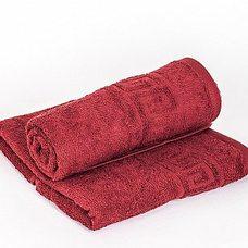 Полотенце махровое 70х140, цвет бордовый