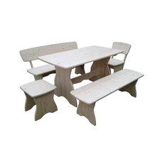 Комплект мебели для бани из сосны Комфорт, длина 120 см, покрыт лаком