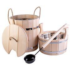 """Набор для бани подарочный """"Стандарт-2"""" - 3 предмета, материал липа"""