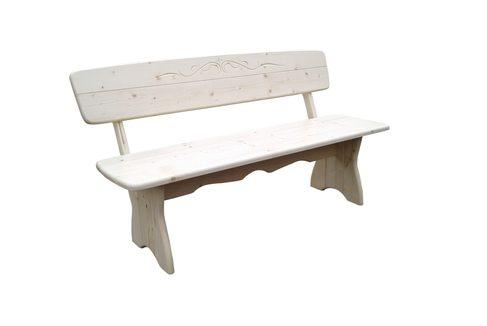 Скамейка из массива дерева Комфорт, длина 145 см