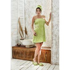Набор для сауны женский Karna Paris, зеленый, 3 предмета