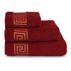 Полотенце махровое Mito Greco, 70*130, цвет бордовый