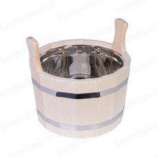Шайка для бани 10 л, липа, нержавеющая вставка