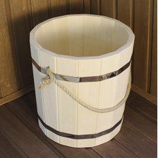 Ведро деревянное для бани,липа,объем 10 литров