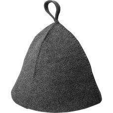 Шапка банная темный войлок, цвет: серый