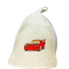 """Детская банная шапка вышивкой """"Маккуин"""", цвет: белый"""