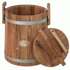 Кадка дубовая для засолки, объем 10 литров, оцинкованный обруч