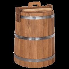 Кадка дубовая для хранения, объем 30 литров, оцинкованный обруч