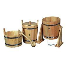 """Набор для бани и сауны """"Премиум"""", лиственница натуральная, 4 предмета"""