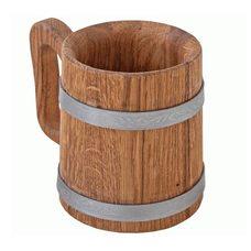 Кружка дубовая для напитков, объем 1 литр