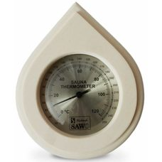 Термометр для бани в форме капли Sawo 250-TA, материал: осина