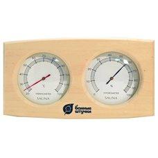 Термогигрометр для бани и сауны прямоугольный