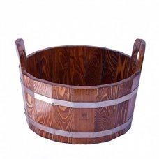Шайка для бани и сауны Bentwood 15л, лиственница мореная