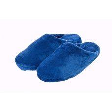 Тапочки махровые синие на резиновой подошве, размер: 41-42