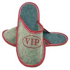 """Тапочки из войлока с вышивкой """"Vip"""", непромокаемая подошва, размер: 43-44"""