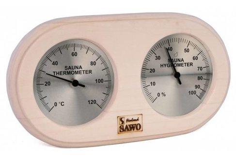 Термогигрометр для сауны Sawo 222-THА,осина